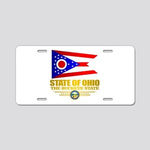Ohio Flag Aluminum License Plate